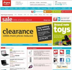 Argos网站